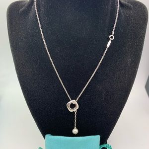 Tiffany & Co.925 Pearl Pendant Necklace 18 Inches
